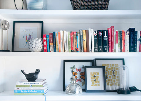 Styling books on shelves