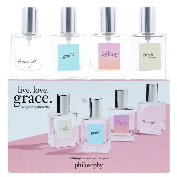 Philosophy Live Love Grace Fragrance Favourites Eau De Parfum 4 Pieces Gift Set