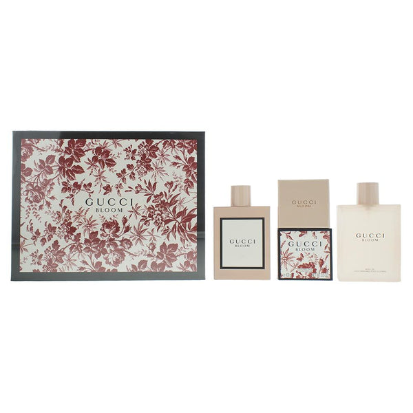 Gucci Bloom Eau De Parfum 3 Pieces Gift Set