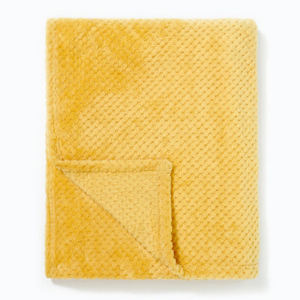 Popcorn Throw Ochre