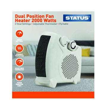 Status Dual Position Fan Heater 2000W
