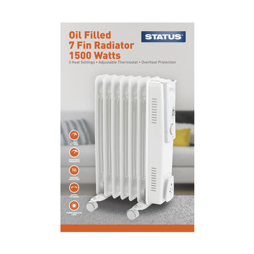 Status 7 Fin Oil Filled Radiator