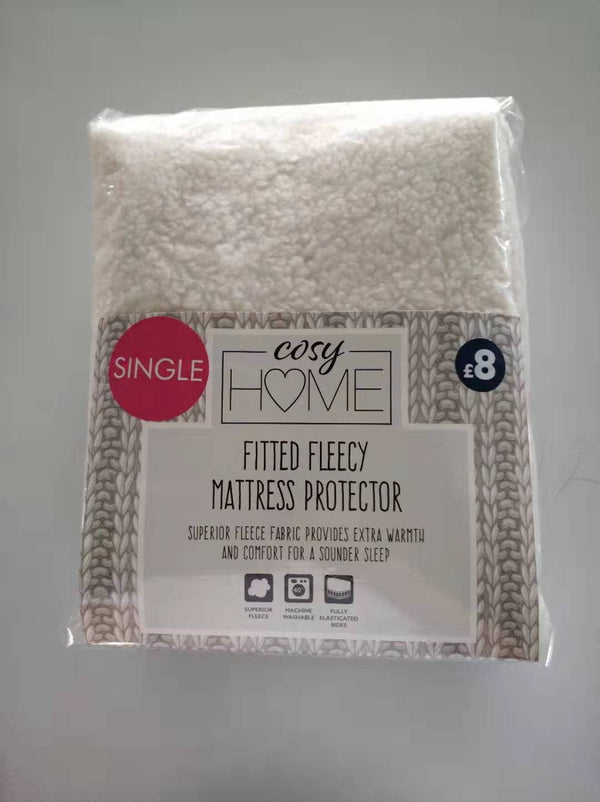 Cosy Home Fleecy Mattress Protector