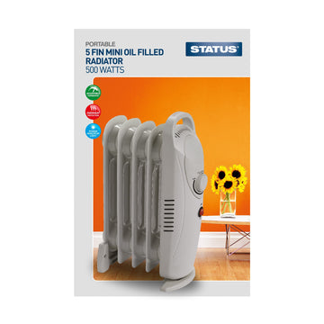 Status Oil Filled Radiator 5 Fin 500W