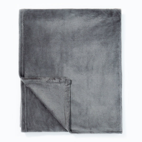 Powder Plush Throw Charcoal