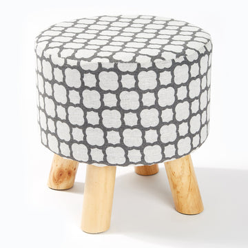 Fabric Foot Stool - Moroccan Grey