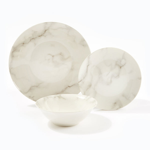 At Home Marble Effect 12pc Dinner Set