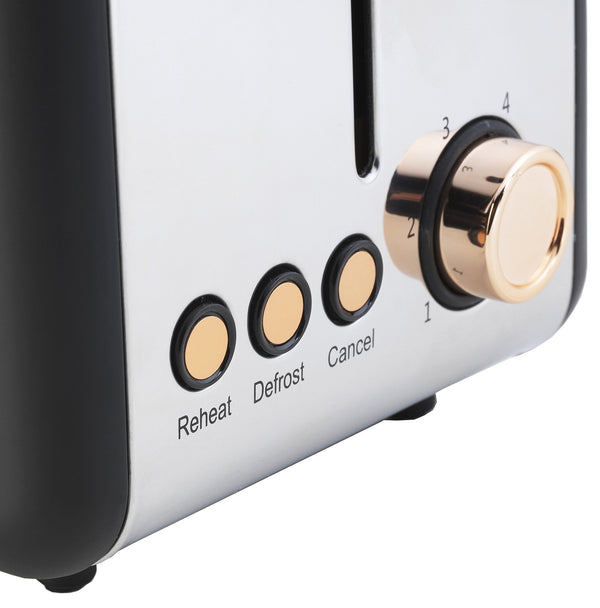 Salter 2 Slice Toaster Rose Gold