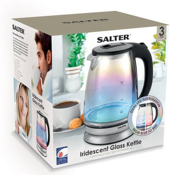 Salter Irridescent Glass Kettle