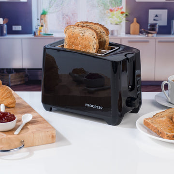 Progress Toaster 2 Slice - Black