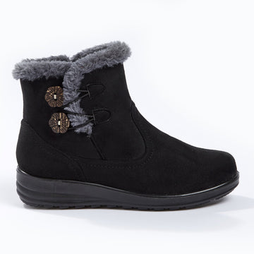 Cushion Walk 2 Button Boot Black