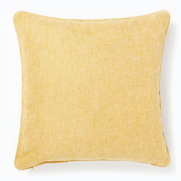 Hatched Cushion Ochre