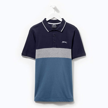 Slazenger Cut And Sew Polo Navy/Grey/Teal