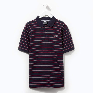 Slazenger Striped Polo Navy/Red/White