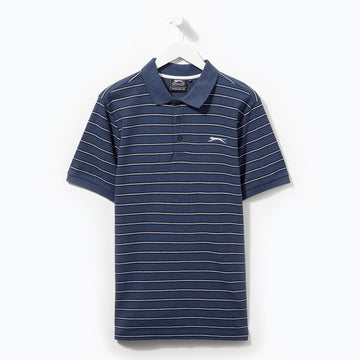 Slazenger Striped Polo Denim/Navy/White