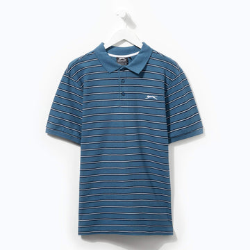 Slazenger Striped Polo Teal/Navy/White