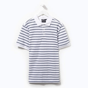 Slazenger Striped Polo White/Navy/Royal