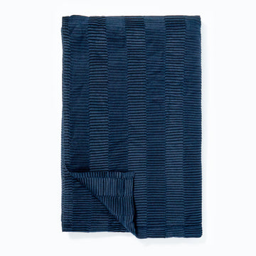 Pleated Throw Navy