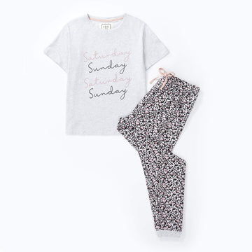 Love to Dream Jersey Pyjama Set - Saturday/ Sunday