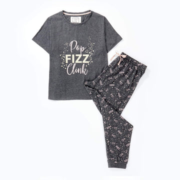 Love To Dream Jersey Pyjama Set - Pop Fizz Clink