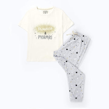 Love to Dream Jersey Pyjamas Set - Prosecco