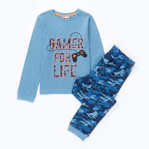 Hullabaloo Gamer Jersey Pyjama Set
