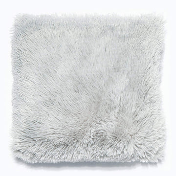 Long Pile Silver Cushion