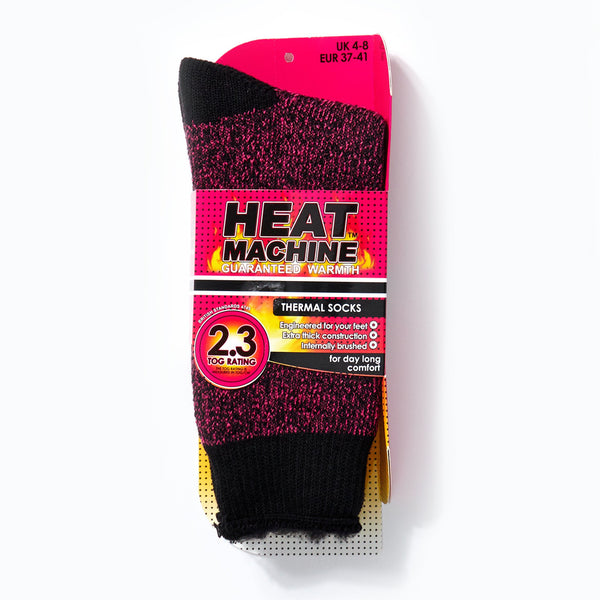 Heat Machine Socks - Pink/ Black Twist
