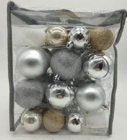 Contemporary 51 piece Bauble Pack
