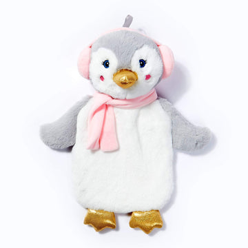 Novelty Plush Penguin Hot Water Bottle 1L