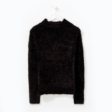 Chenille Jumper - Black