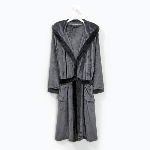 Contrast Gown Charcoal/Black