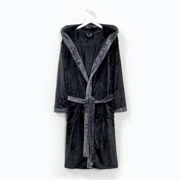 Contrast Gown Black/Grey