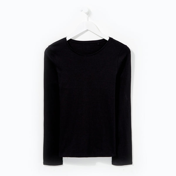 Easycare Long Sleeve T-Shirt - Black