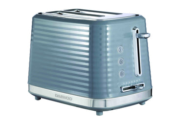 Daewoo Hive 2-Slice Textured Toaster Grey