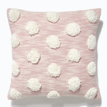 Pom Pom Cushion Soft Pink 45x45cm