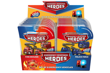 5Pc Pull Back Emergency Vehicles
