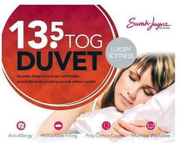 Sarah Jayne 13.5 Tog Poly Cotton Duvet