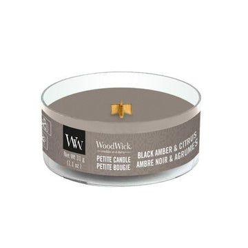 Woodwick Petite Black Amber & Citrus Candle