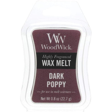 Woodwick Mini Wax Melt Dark Poppy