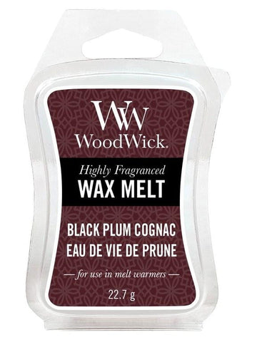 Woodwick Mini Wax Melt Black Plum Cognac