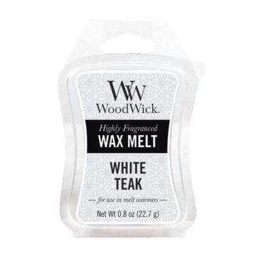 Woodwick Mini Wax Melt White Teak
