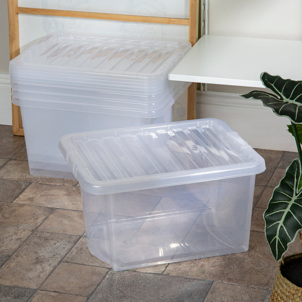 Wham Crystal 28L Box & Lid - Pack of 5