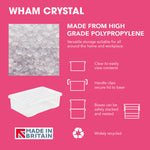 Wham Crystal 60L Box & Lid - Pack of 5