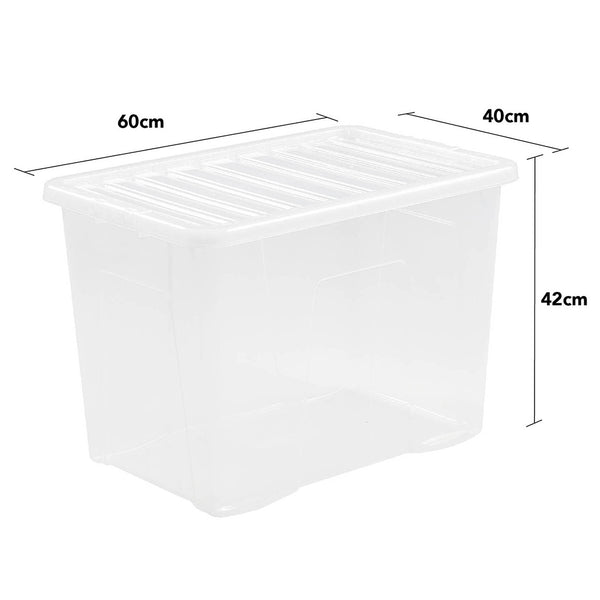 Wham Crystal 80L Box & Lid - Pack of 4