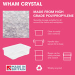 Wham Crystal 110L Box & Lid - Pack of 3