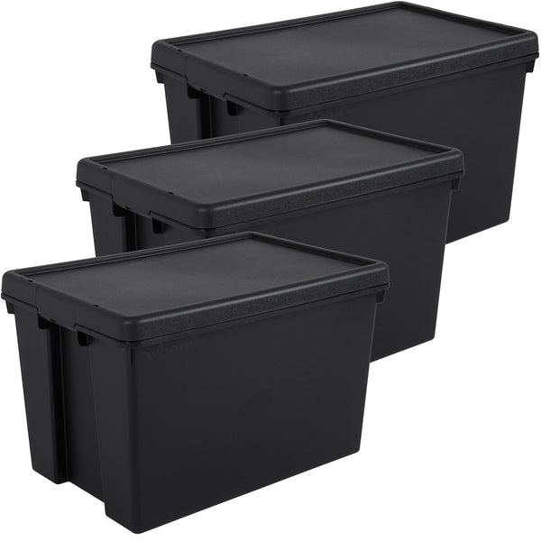 Wham Bam 62L Heavy Duty Recycled Box with Lid - Pack of 3