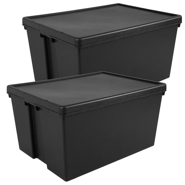Wham Bam 150L Heavy Duty Recycled Box with Lid - Pack of 2