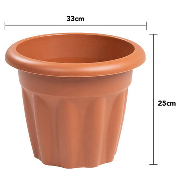 Vista Round Planter 33cm Terracotta - Pack of 3