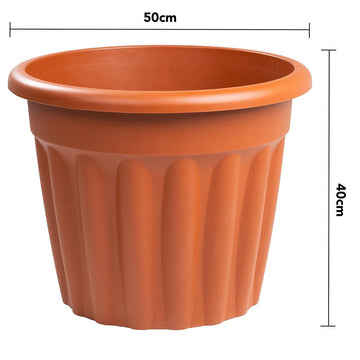 Vista Round Planter 50cm Terracotta - Pack of 3